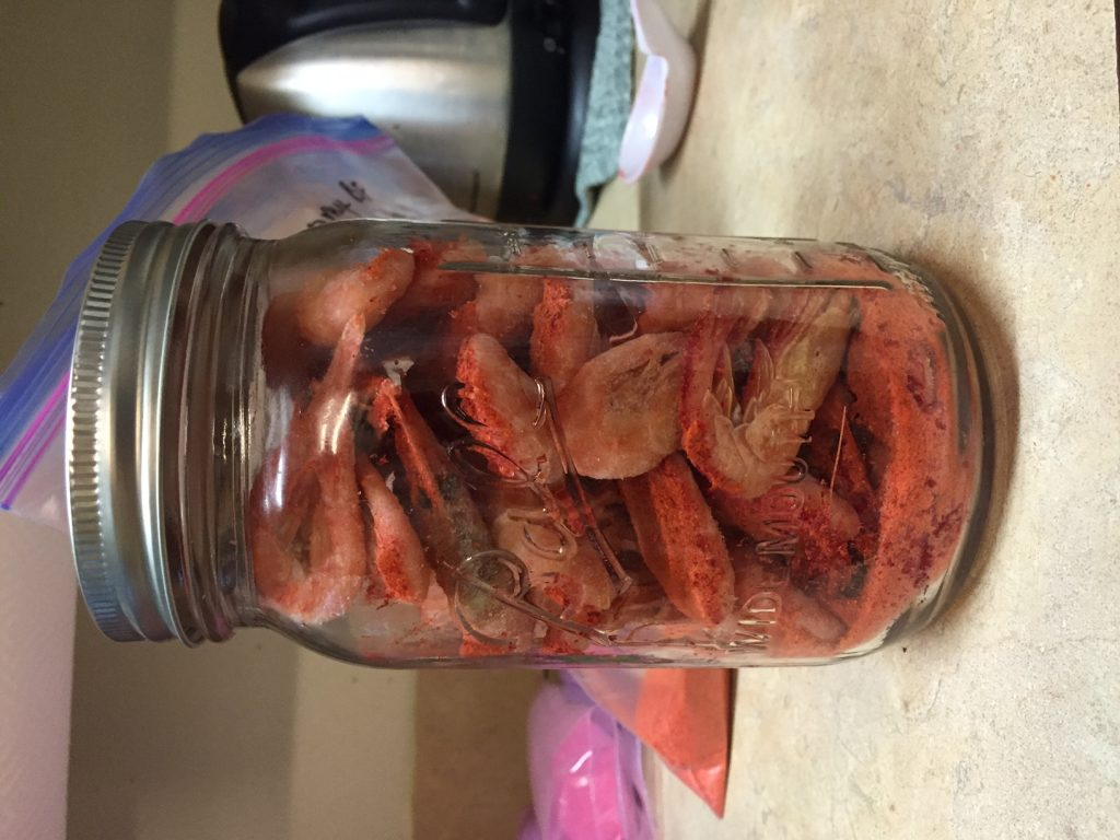 Prawns Cured, Sealed in Jar, and ready to refrigerate | Willamette Valley Outfitters