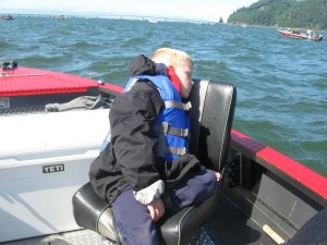 Catching Salmon all day is tiring | Buoy 10 Fishing Guide